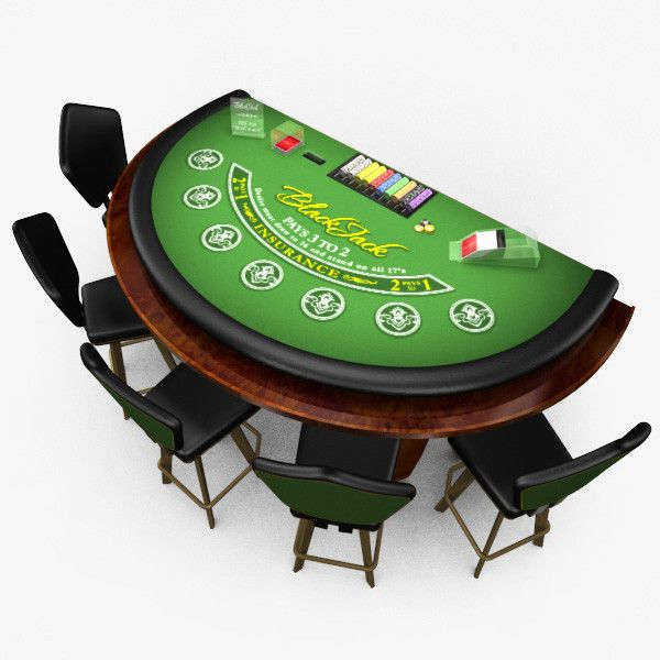 Casino black jack and poker table casino sounds and light