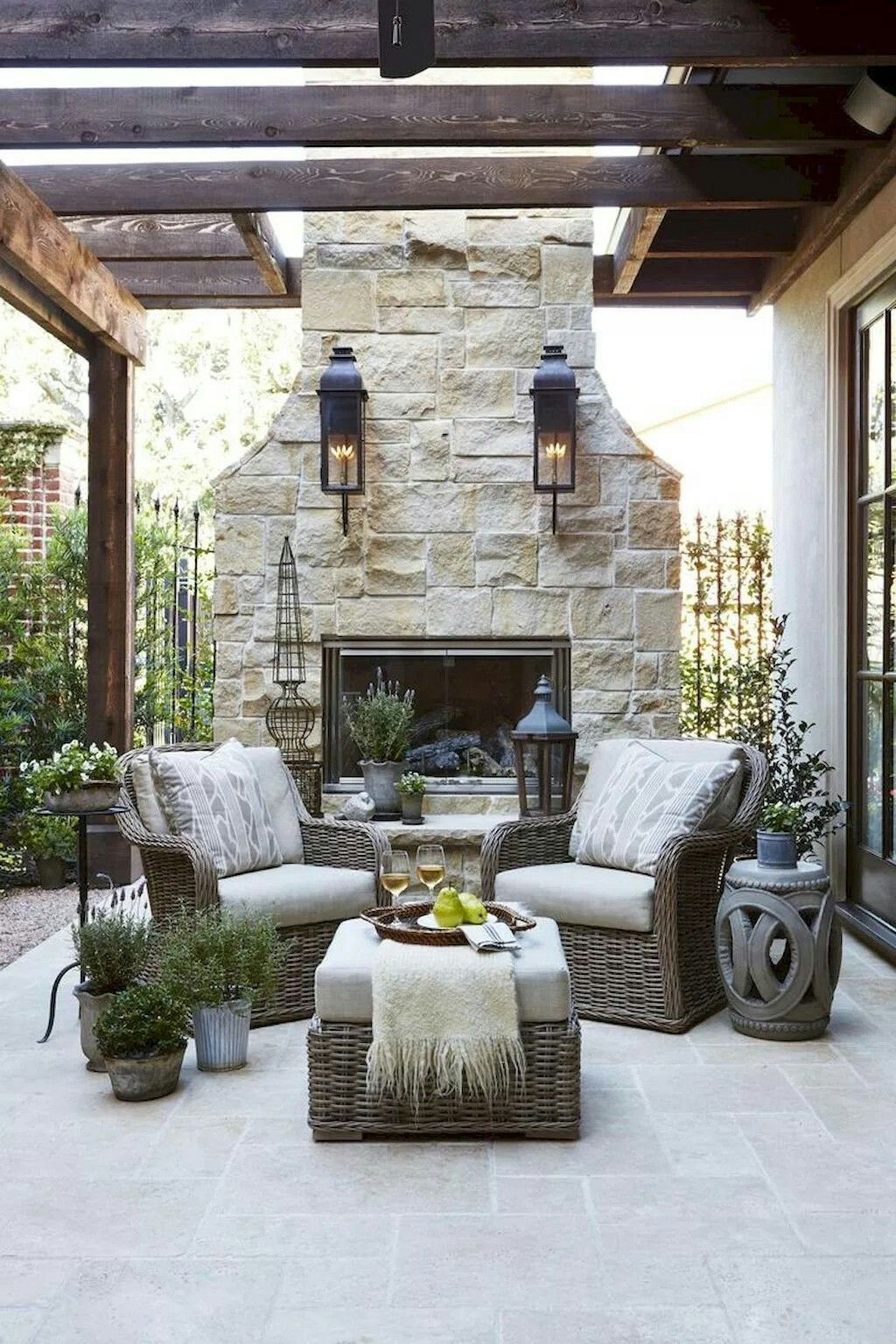 French Country Fireplace Pin By Thumbtack On Outdoor Spaces Pinterest Outdoor Living