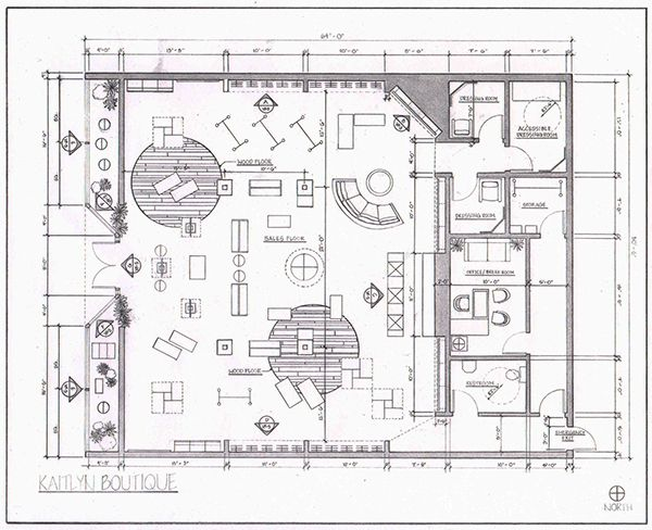 Clothing Boutique Floor Plan Retail layout on behance | a ...