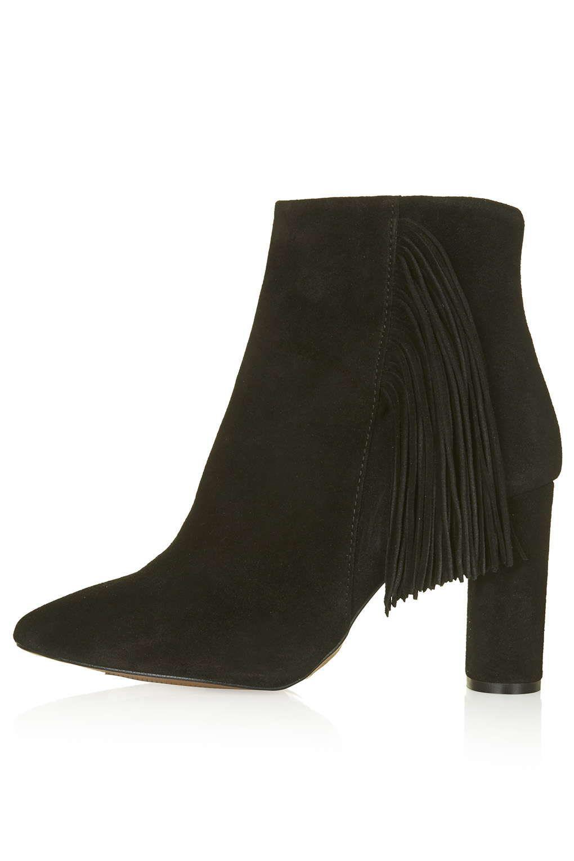MUSKAT Fringe Suede Ankle Boots | Shoes SS15 | Pinterest | Photos ...