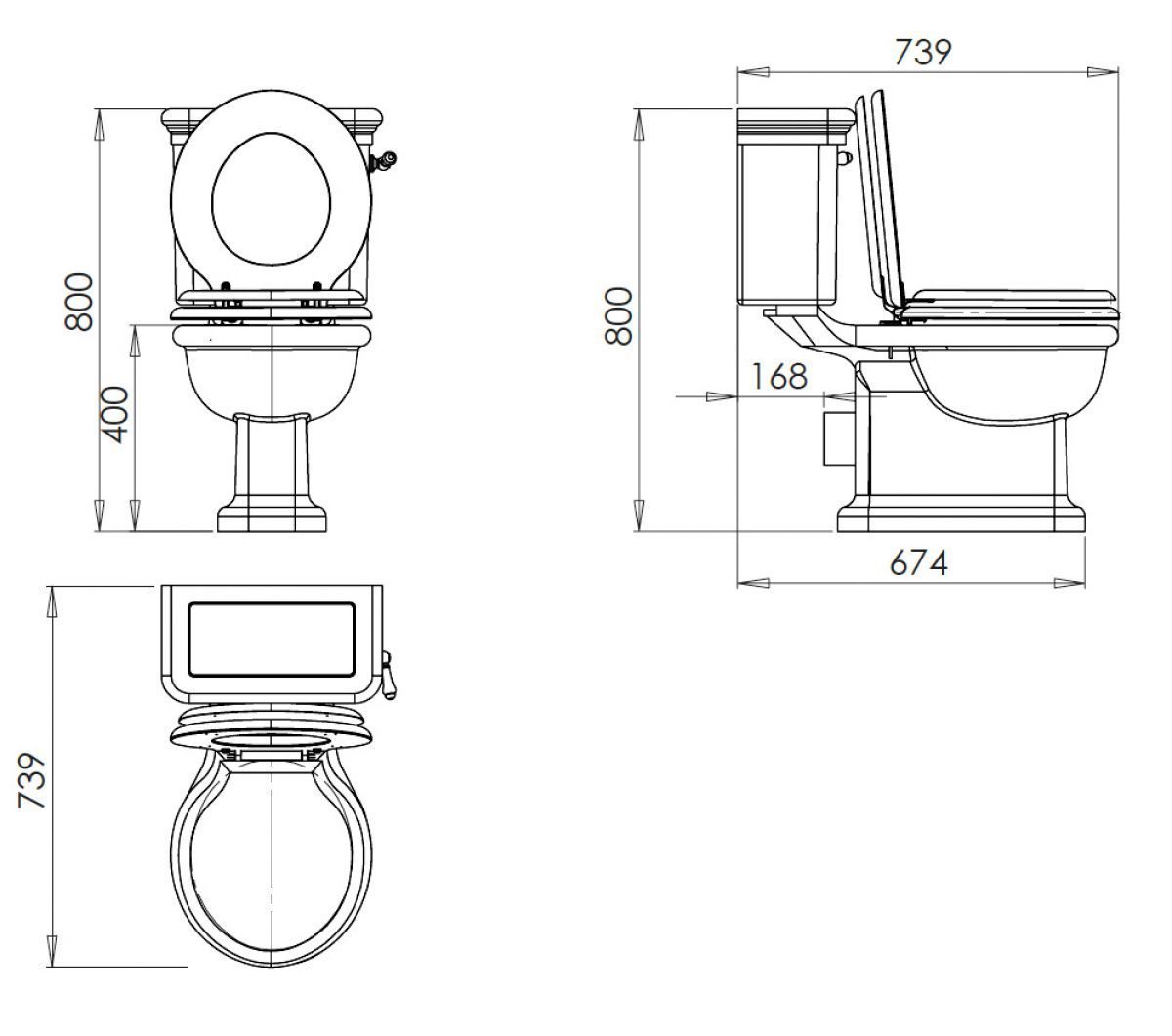 Imperial Etoile Close Coupled Toilet In 2020 Traditional Toilets Close Coupled Toilets Imperial Bathrooms