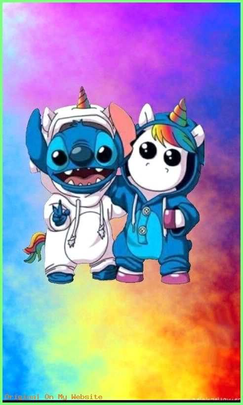 Wallpaper Iphone Disney Stitch And Unicorn In Rainbow Wallpaper Unicornwallpaper Wall Cute Cartoon Wallpapers Cute Disney Wallpaper Cute Disney Drawings