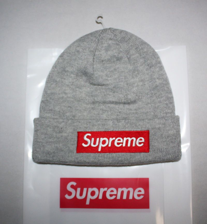 2903feb0 Supreme Accessory 2015 FW Box Logo Era Gray Grey Winter Hat Beanie ...
