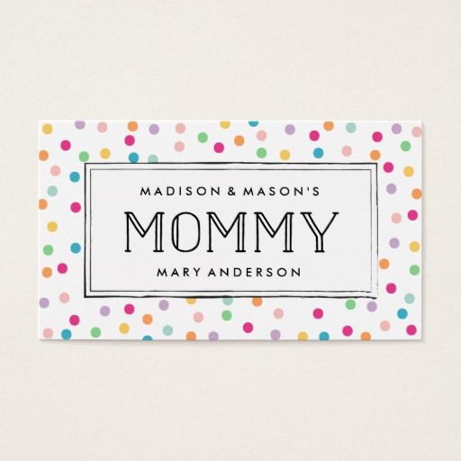 Cool Stripes Mommy Calling Cards Zazzle Com Calling Cards Cards Call Me Maybe