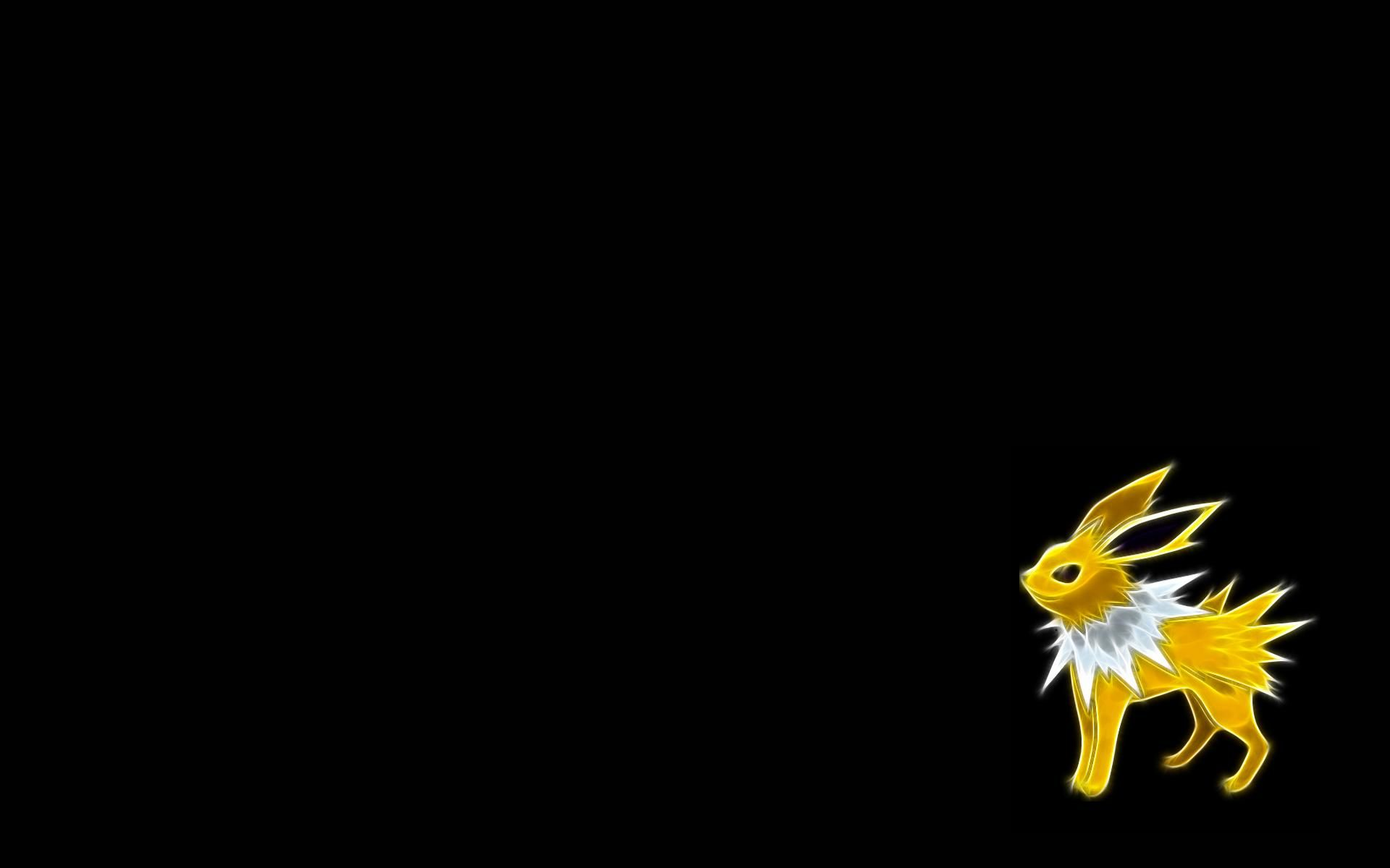 The Images Of Pokemon Jolteon Black Background Fresh Hd Wallpaper Black Background Wallpaper Black Pokemon Black Backgrounds