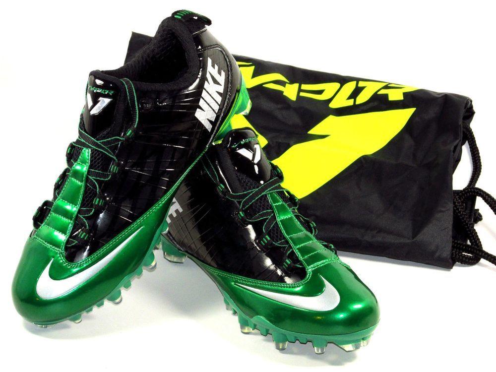 6c6d21354fb8 Mens Nike Zoom Vapor Carbon Fly 2 TD Molded Football Cleats Size 9.5 Green  Black  Nike  LowMoldedFootballCleats