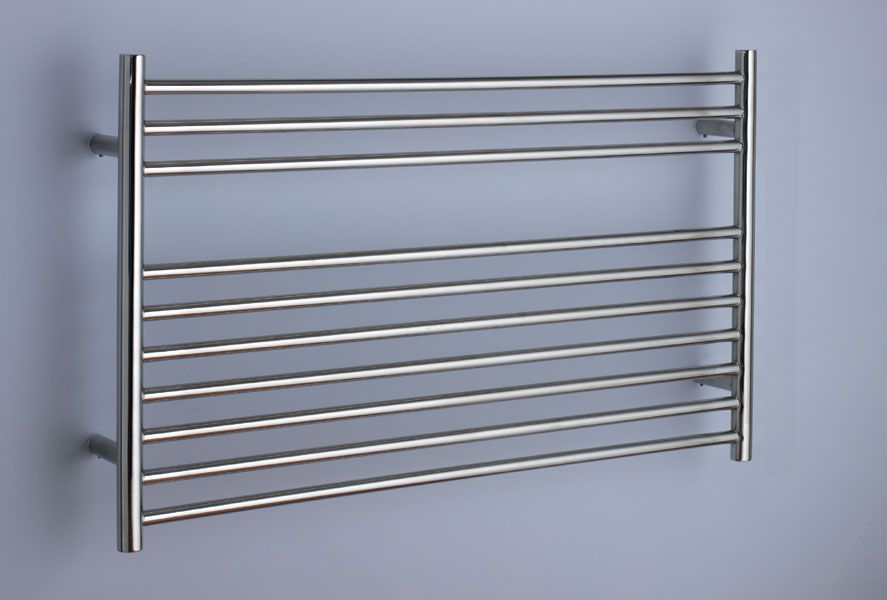 Longitube heated towel rail for use under windows and where height