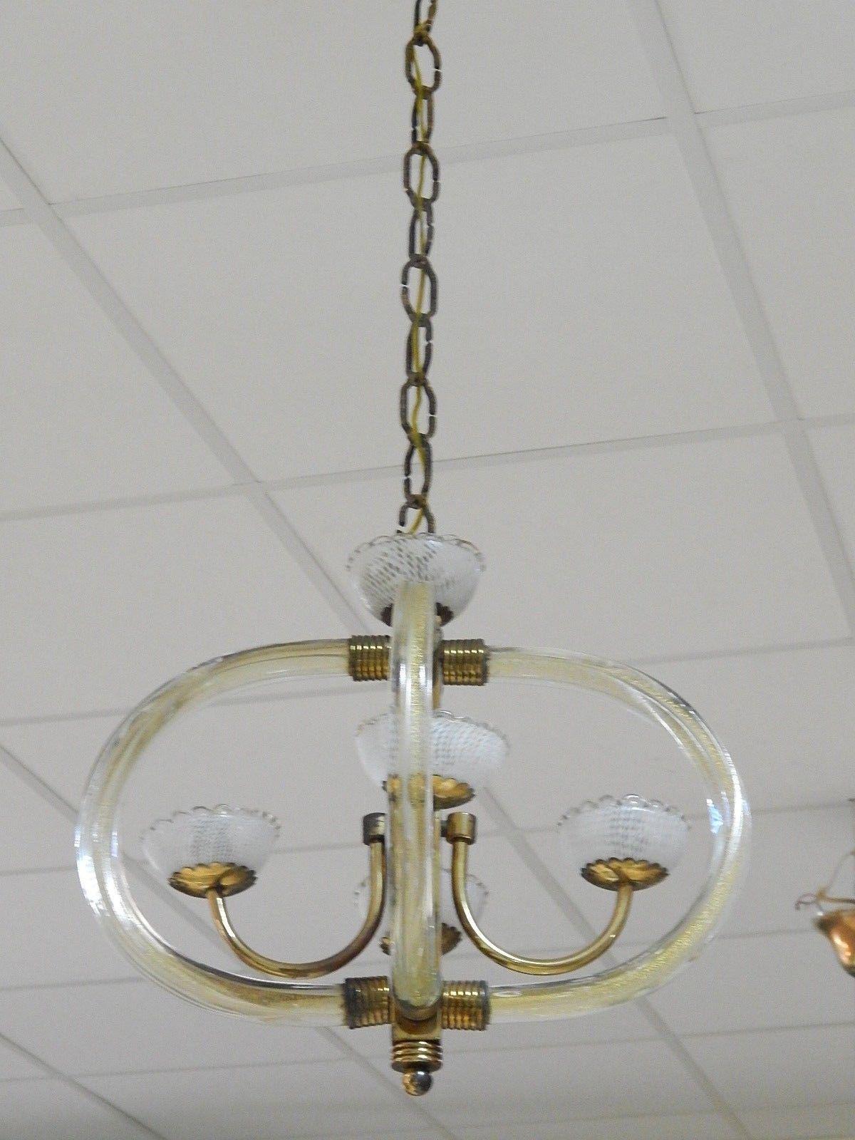 Lampadario Murano Anni 40.Lampadario Murano Venini Anni 30 40 Hanging Lamp Venini Chandelier
