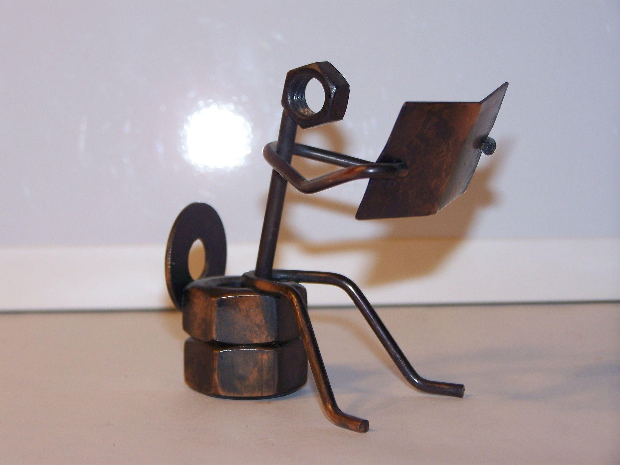 Small scrap metal toilet reader toilet scrap and metals - Simple metal art projects ...