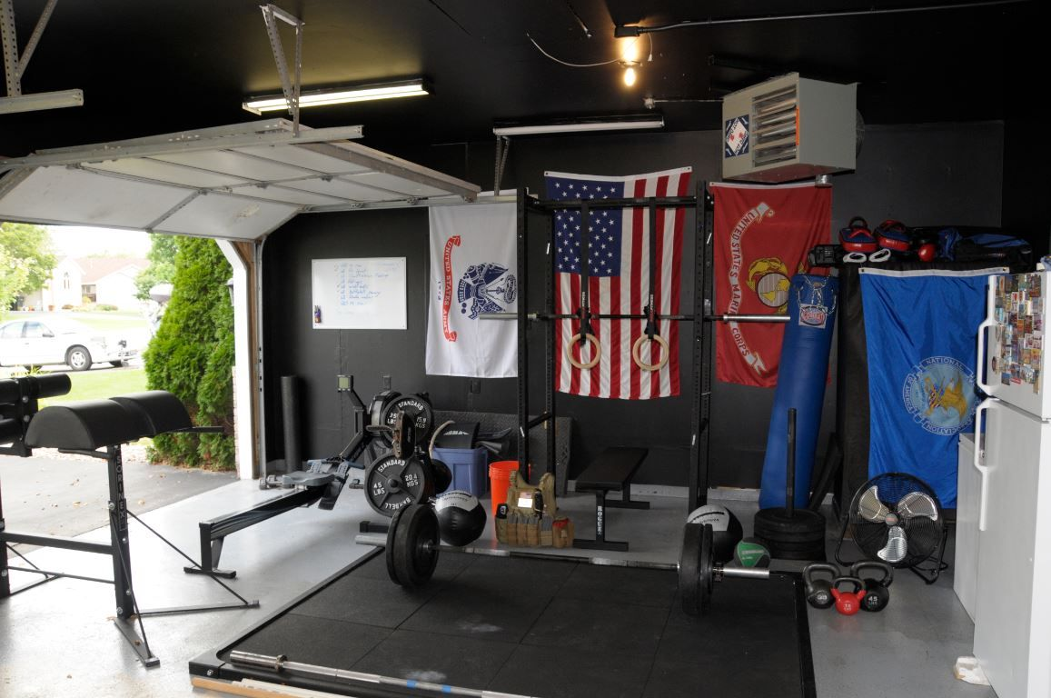 Garage Gym Man Cave : Rogue equipped garage gyms photo gallery gym ideas