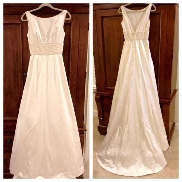 Richard Glasgow Couture French Silk Wedding Gown   Silk wedding ...