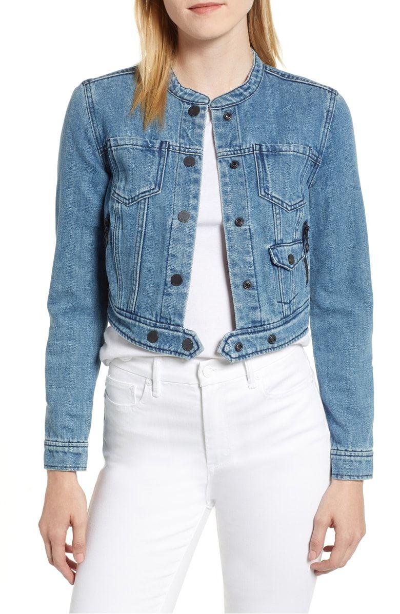 Habitual Remy Crop Denim Jacket Nordstrom Cropped Denim Jacket Women Cropped Denim Jacket Cropped Denim [ 1197 x 780 Pixel ]