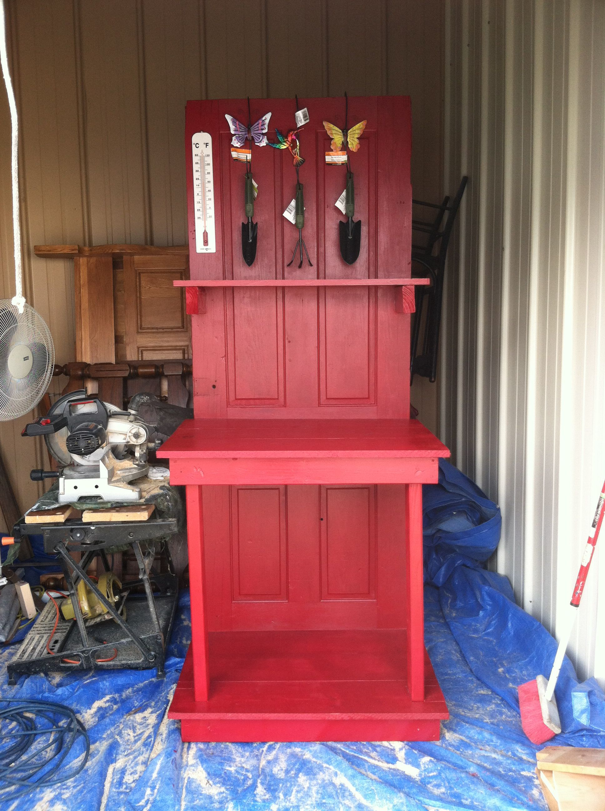 Potting Bench For Outside Flower Pot Planting Made From