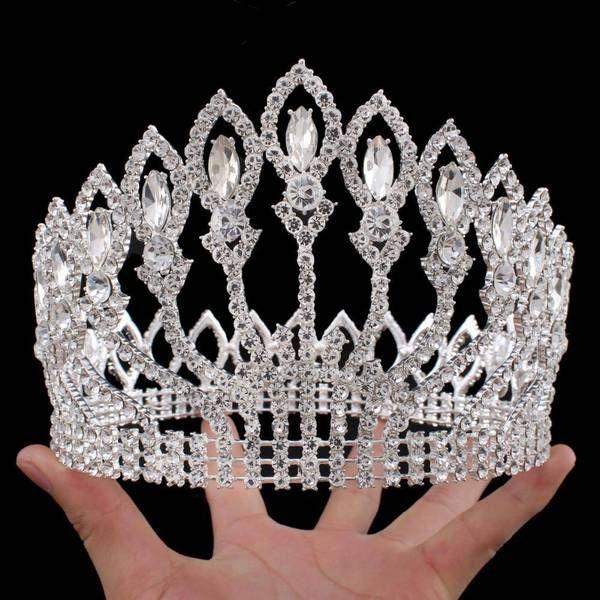 Vintage Rhinestone bling Crown, Crystal Tiara, Good for Bridals, Prom, Princess, Pageant, Wedding