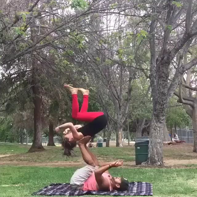 The flip master)  #fitness #Couples_people