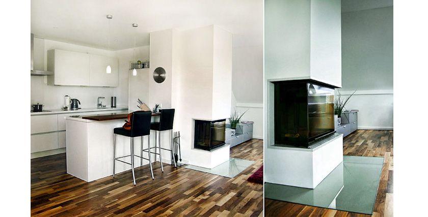 Kamin am Küchentresen | küche | Pinterest | moderne Kamine, Küche ...