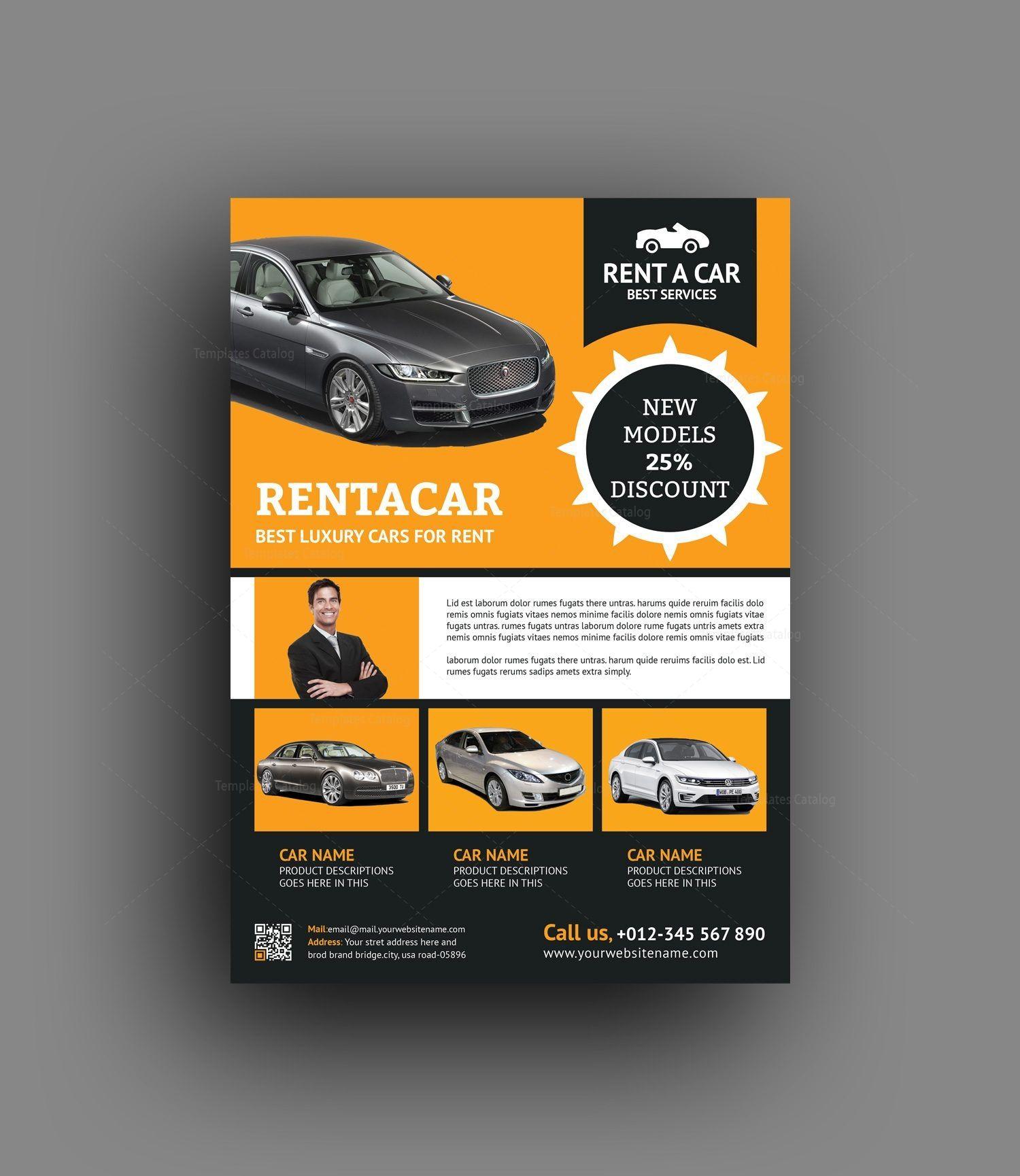 Rent a Car Flyer Design Template Flyer design templates