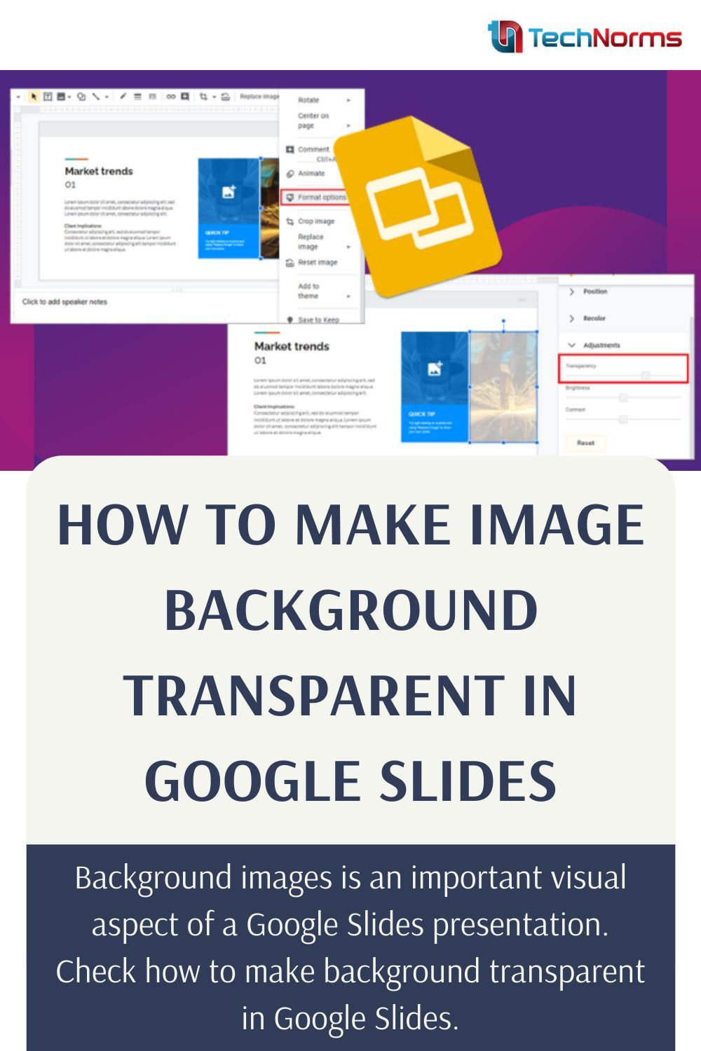 How To Make Image Background Transparent In Google Slides In 2021 Google Slides How To Make Image Google Tricks