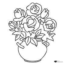 Vazoda çiçekler Boyama Sayfası Yandexgörsel Vazoda çiçek Boyama