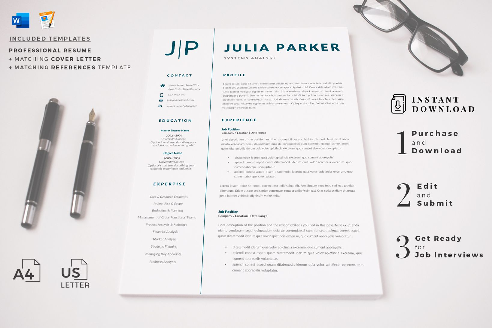 Creative Resume Templates For Ms Word And Mac Pages Professional Resume Templat Creative Resume Templates Cover Letter For Resume Resume Template Professional Internship resume template microsoft word