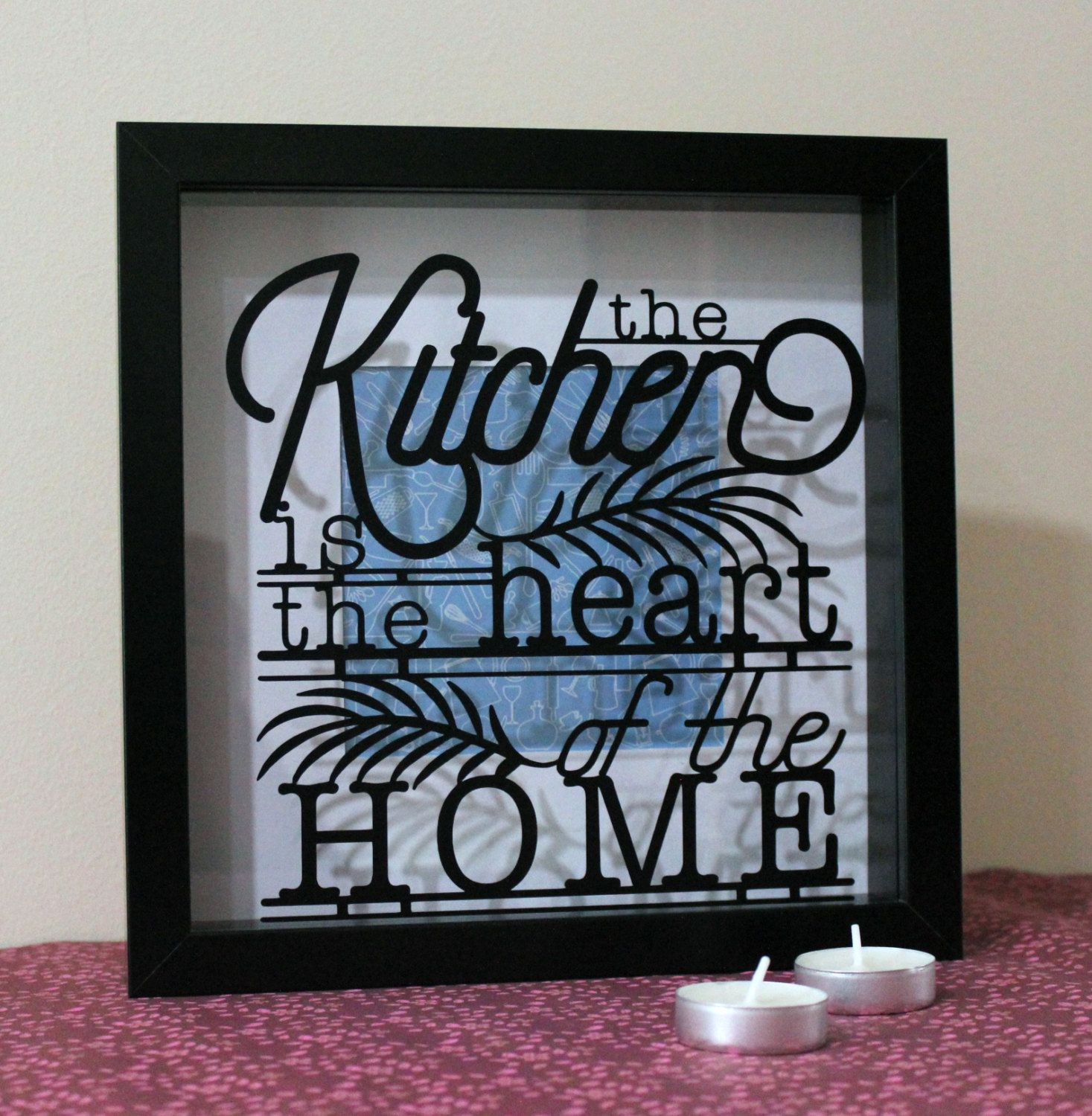 Kitchen is the Heart of the Home 3D Frame - Gift for New ...