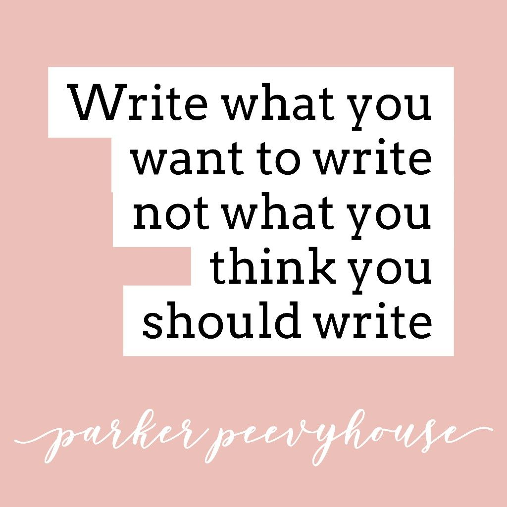 Writing Advice from Parker Peevyhouse