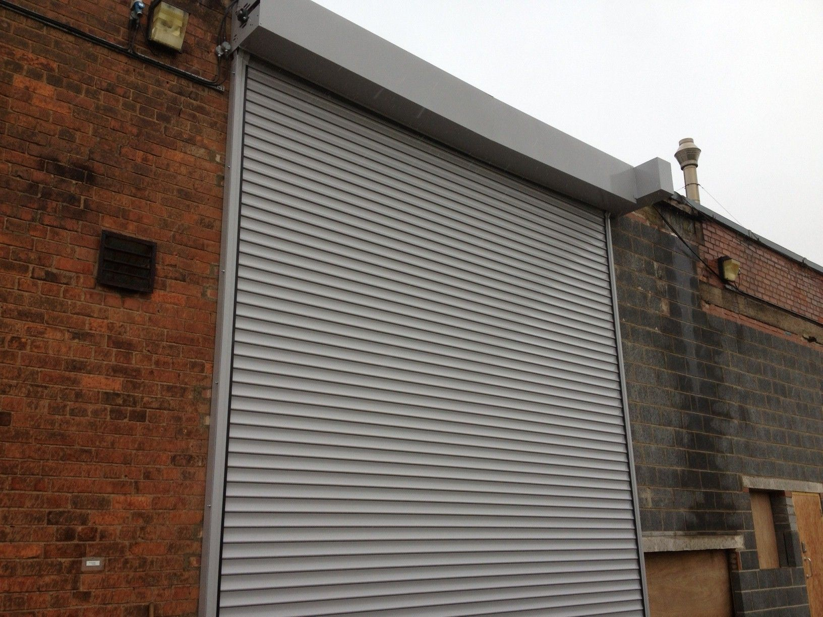 Large Shutter fitted at a Site in Brough.