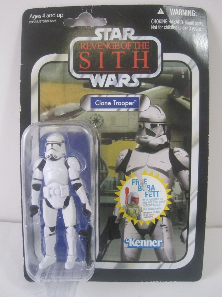 Star Wars Clone Trooper Action Figure Revenge Of The Sith Vc15 Vintage Kenner Star Wars Action Figures Clone Trooper Star Wars Clone Wars