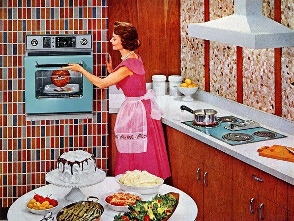 1950's Kitchen & Housewife