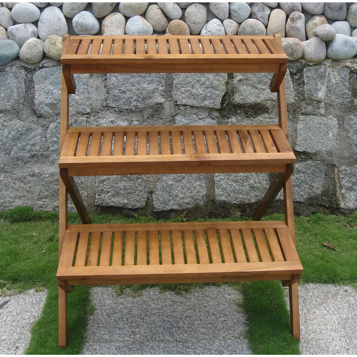 3 Tier Wooden Garden Cart Planter Gardening Pinterest