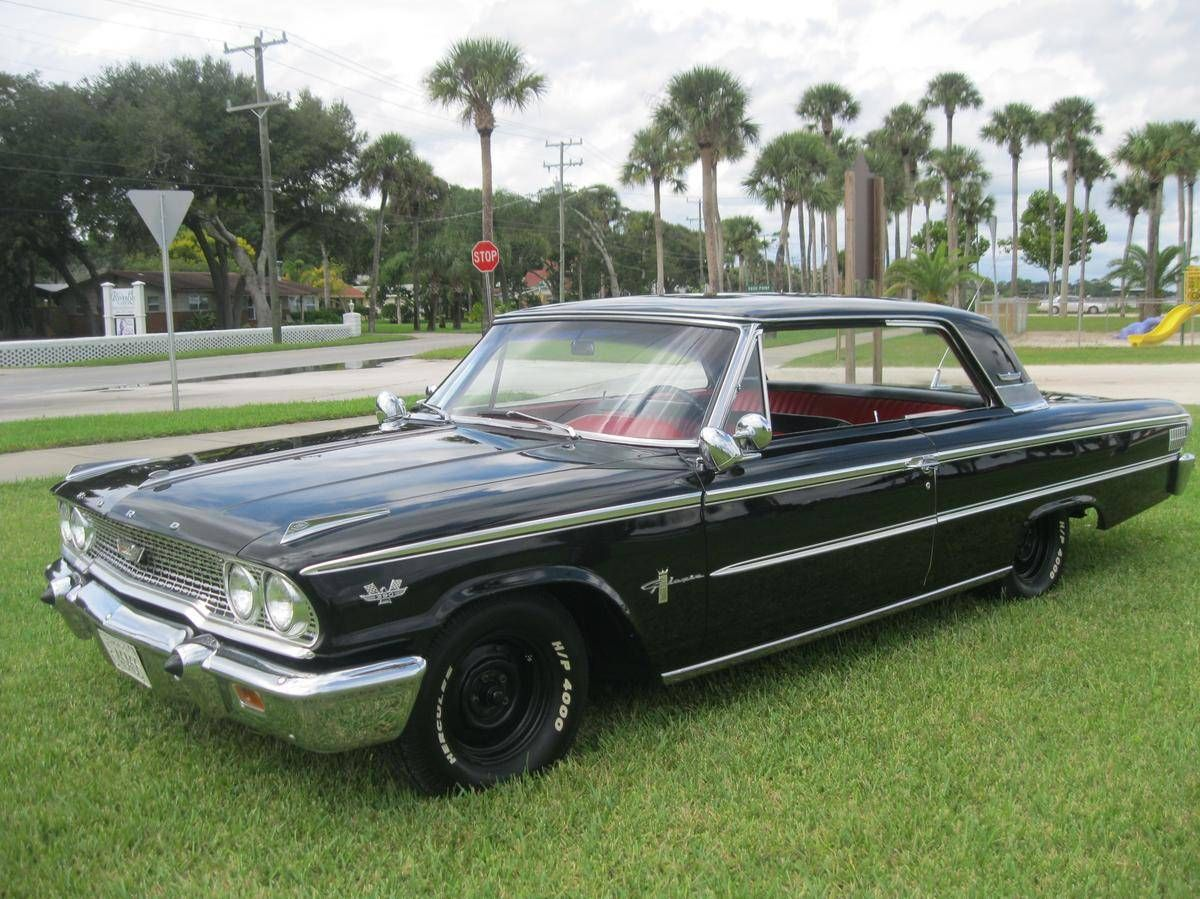 Gimme Sum Of Dat Right Therr 1963 Ford Galaxie 500 390 2 Dr Ford Galaxie 500 Galaxie Ford Galaxie