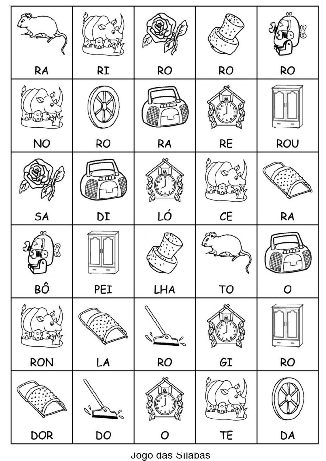 Conhecido Juntando Sílabas - Atividades de Alfabetização para imprimir  QX74