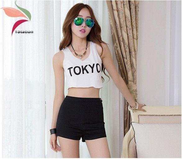 2016 Summer Women High Waist Shorts Slim Ripped Skinny Jeans Short Hot Tight A Side Button Denim Pom short de cintura alta