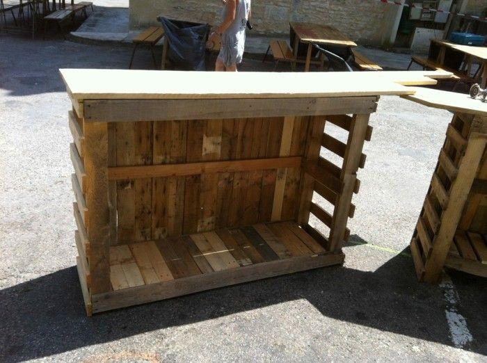bauplan für die kücheninsel aus paletten Möbel aus Paletten - k cheninsel selber bauen