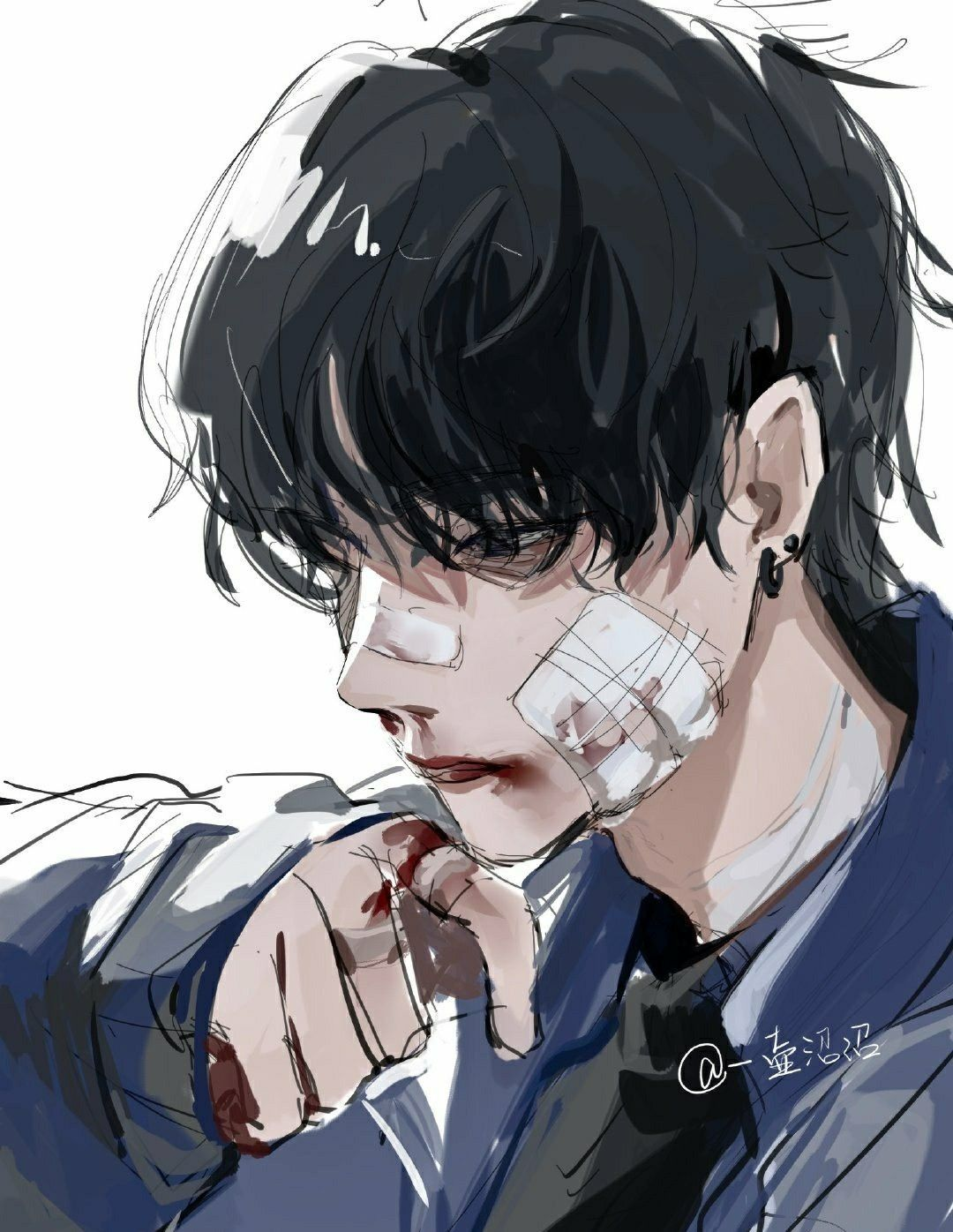 Animeboy Bruises Blackhair In 2020 Manga Art Anime Art Girl Boy Art
