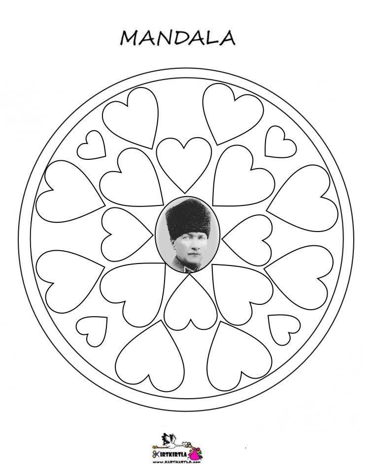 Ataturk Mandala Kirtkirtla Ataturk Mandala Boyama Mandala