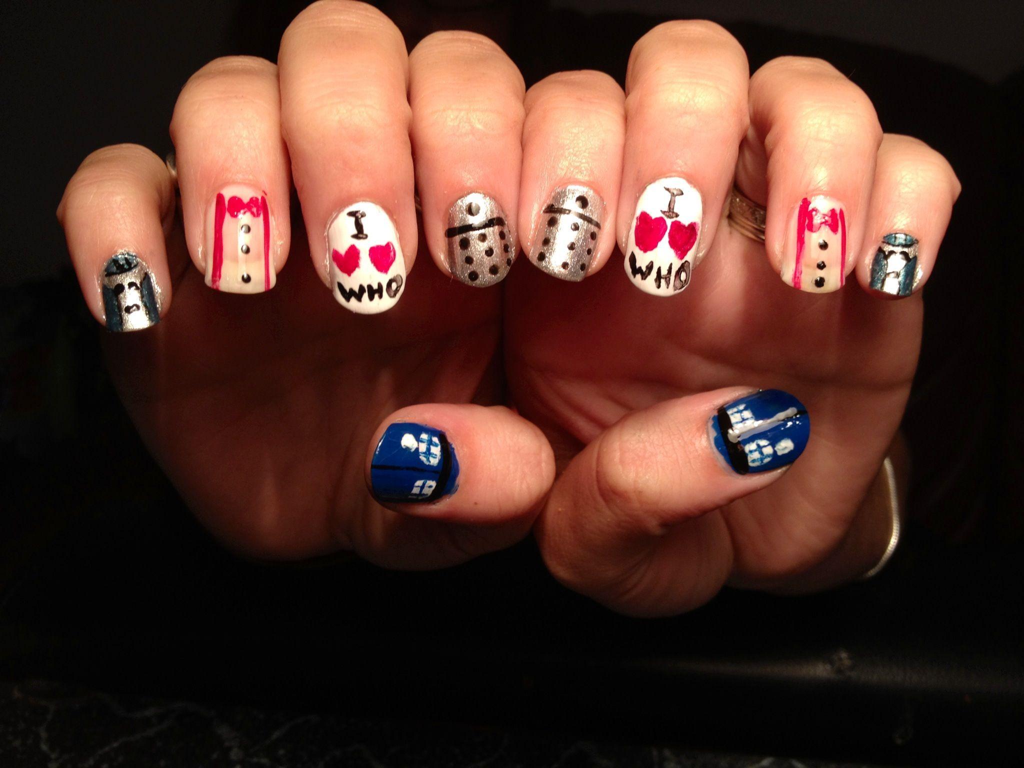 Doctor Who Nail Art Nerd Nails Nailart