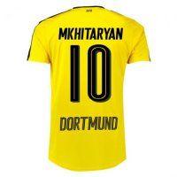 Dortmund 2016/17 Season Home Soccer Jersey Shirt #10 Mkhitaryan ...