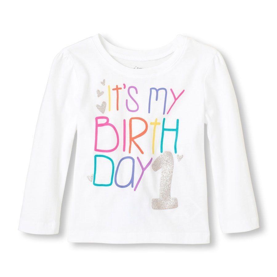 """Baby Girl 1st Birthday Shirt New with Tags!! """"Its my Birthday""""  Sz 12-18mo  #ChildrensPlace #Birthday1stBirthdayDressyEverydayHoliday"""