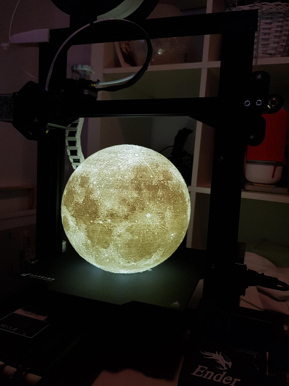 8 Inches Progressive Detail Moon Lamp With Ikea Screw Socket By Moononournation Thingiverse Sockets Progress Lamp