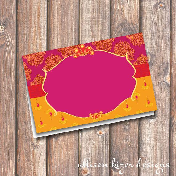 Morocco Hot Pink and Gold Printable Food Tags or Place cards - Boho