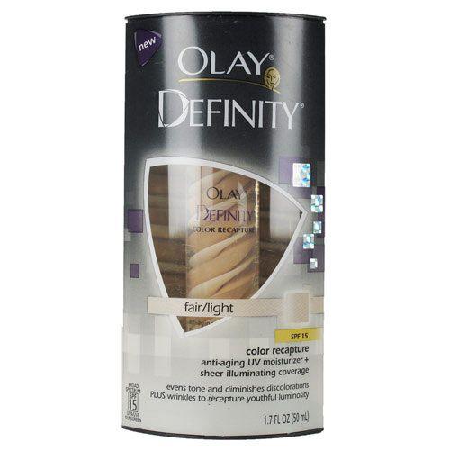 oil of olay definity moisturizer   Olay Definity Color Recapture UV Moisturizer Fair/Light
