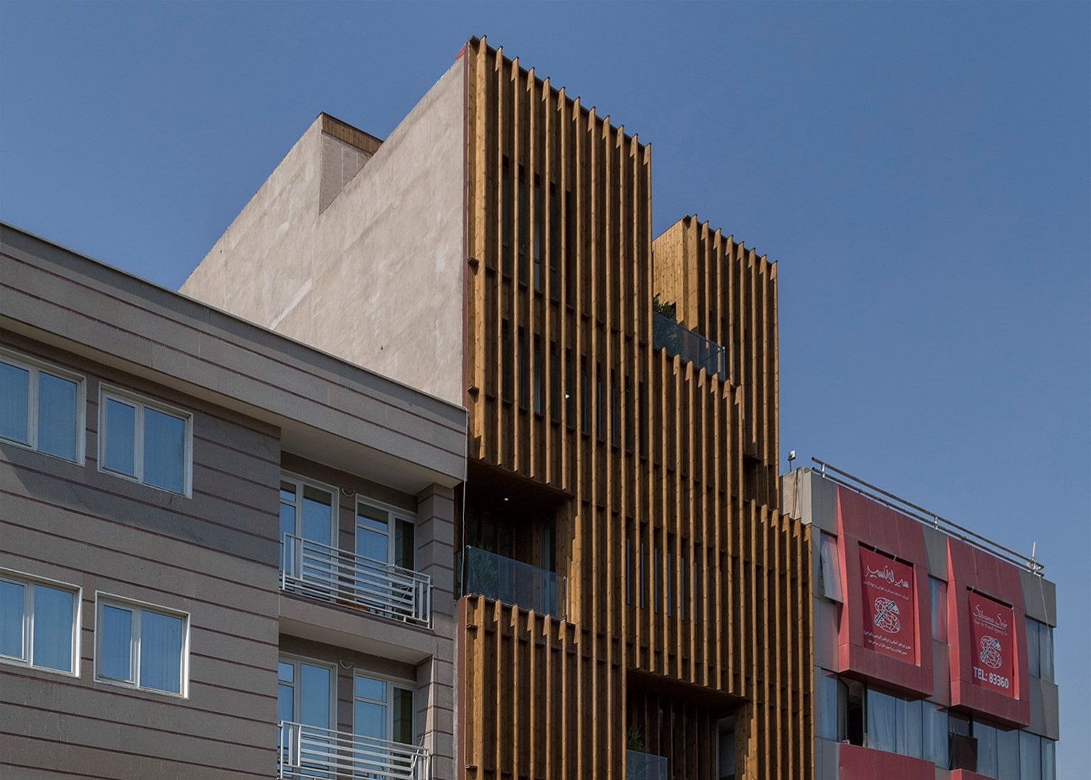 Lp2 Completes Office Block With Louvred Wooden Facades