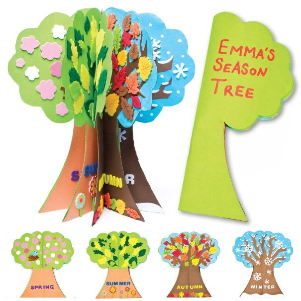 seasons craft ideas season tree project activities and school 2899