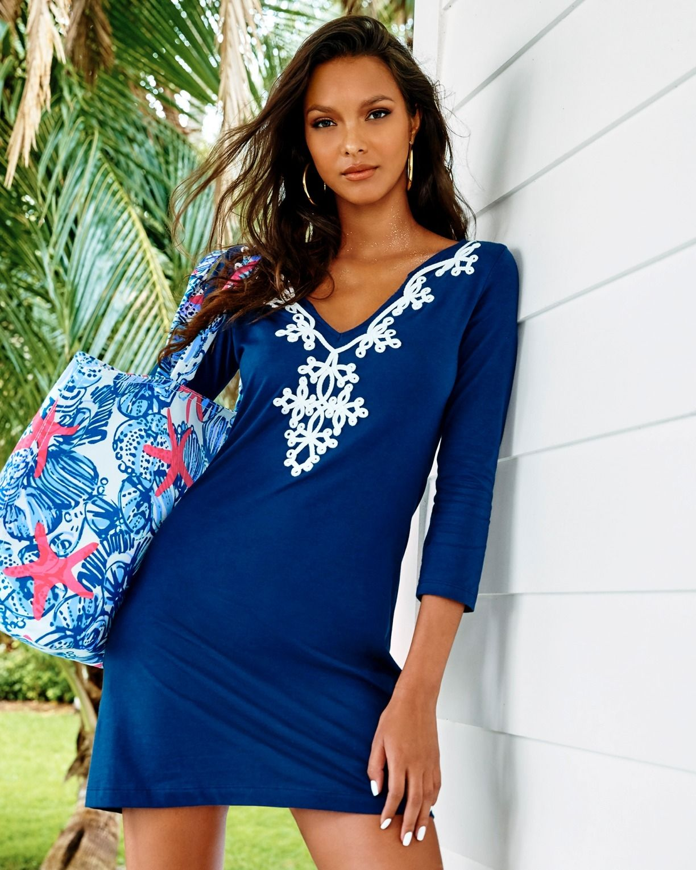 7448f6881c5 Lilly Pulitzer Marina 3 4 Sleeve T-Shirt Dress