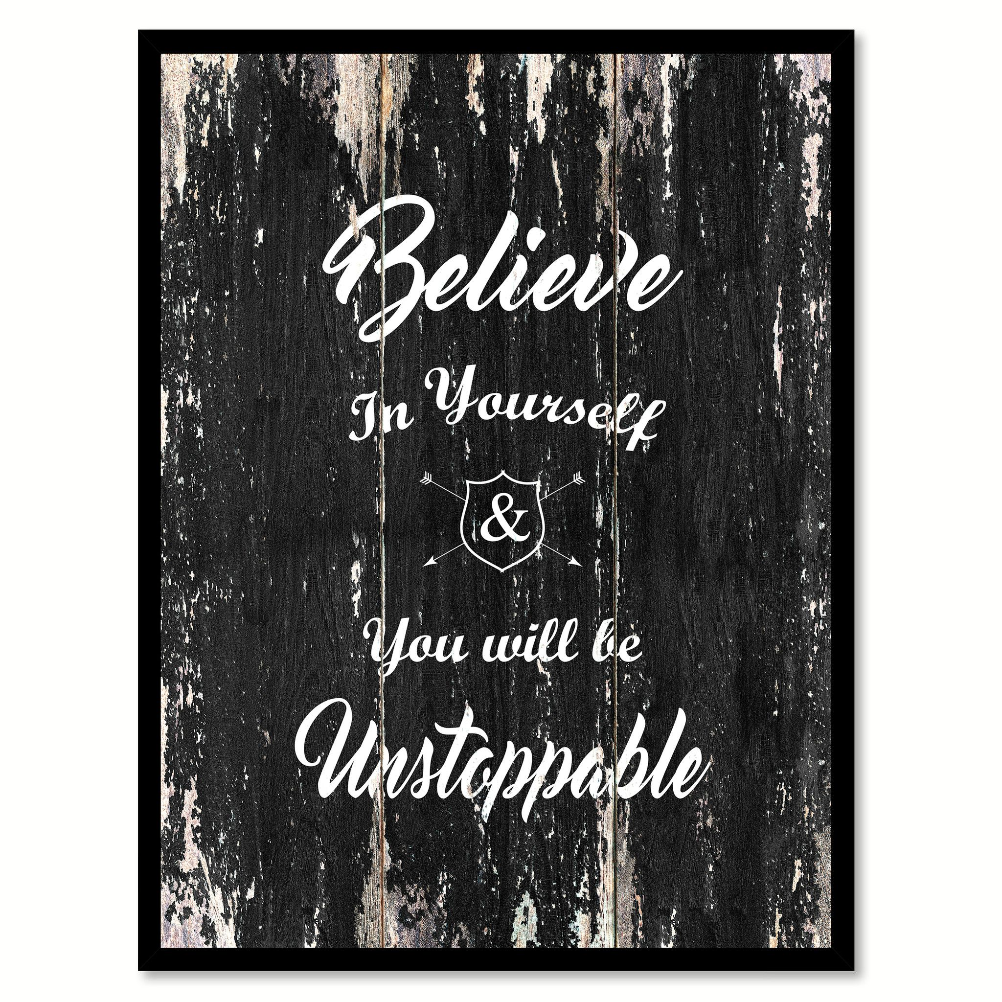 motivational frames for office. Believe In Yourself You Will Be Unstoppable Motivational Quote Saying Canvas Print With Picture Frame Home Frames For Office
