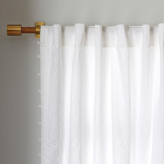 Batik Pom Pom Curtain West Elm Window Treatments