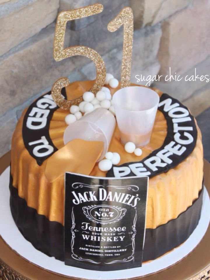 Aged To Perfection Cake For A 51st Birthday By Sugar Chic Custom Cakes