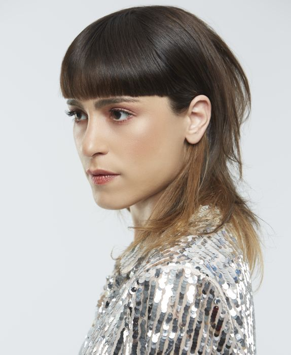 A Medium brown hairstyle From the Urbanus collection fall winter 2018-19 Collection by Mob ...