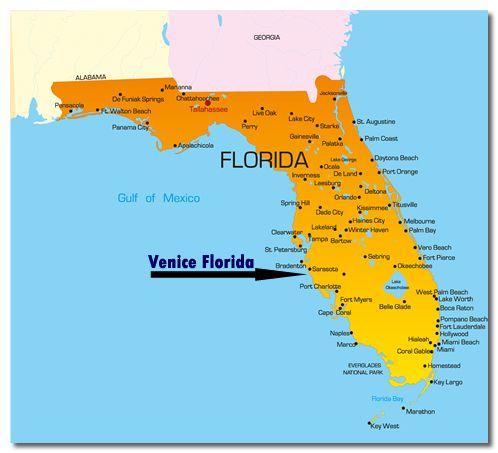 Venice Florida  known for shark teeth  VENICEA DREAM COME